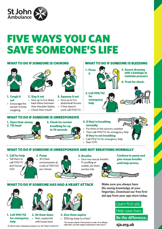 Influential image with first aid printable